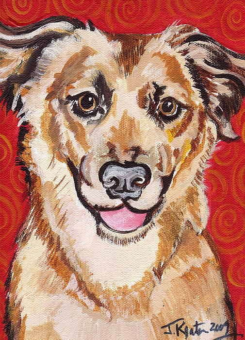 Dogs Painting - Abigail by John Keaton