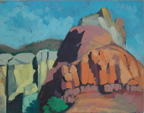 Abique Nm Painting by Eva Wittlinger