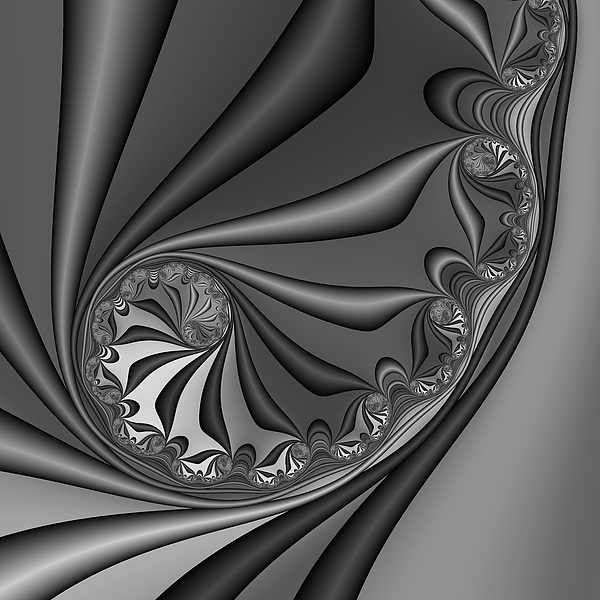 Abstract Digital Art - Abstract 209 Bw by Rolf Bertram