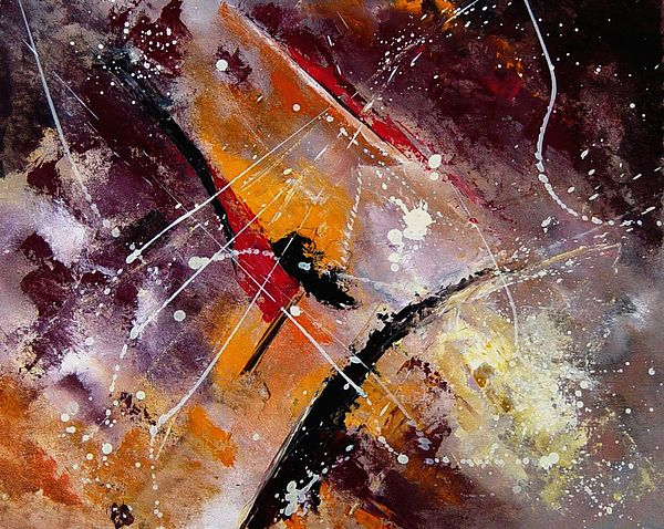 Abstract Painting - Abstract 45 by Pol Ledent