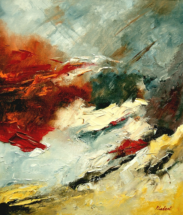 Abstract Painting - Abstract 9 by Pol Ledent