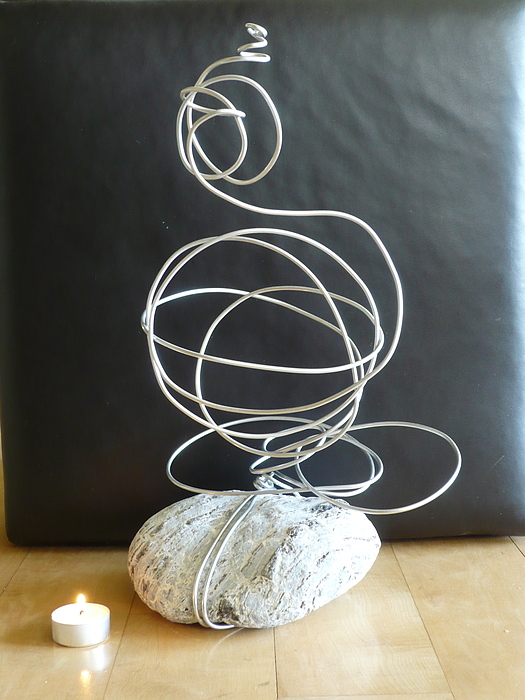 Abstract Aluminum Sculpture by Live Wire Spirit