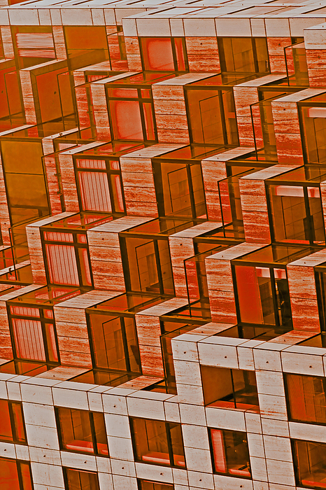 Abstract Photograph - Abstract Architecture In Red by Mark Hendrickson