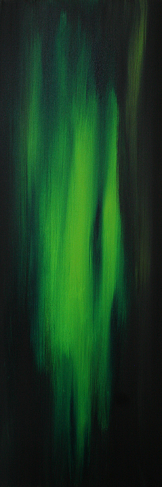 Wall Painting - Abstract Art Colorful Original Painting Winter Passion - Green By Madart by Megan Duncanson