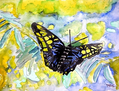Abstract Painting - Abstract Butterfly by Derek Mccrea