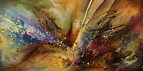 Abstract Expressionism Painting - Abstract Design 108 by Michael Lang