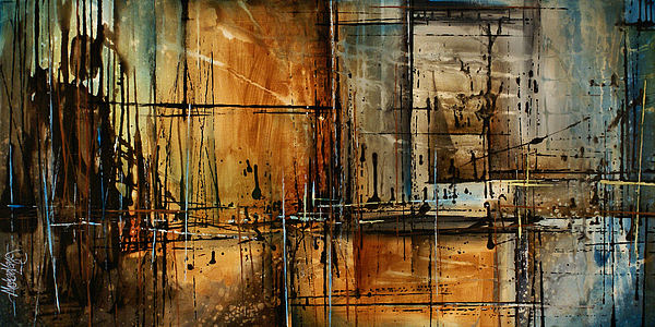 Abstract Painting - Abstract Design 76 by Michael Lang