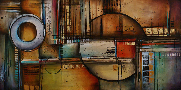 Abstract Painting - Abstract Design 77 by Michael Lang