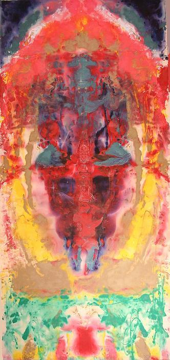 Abstract Ganesha Painting by Brian c Baker