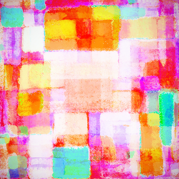 Abstract Painting - Abstract Geometric Colorful Pattern by Setsiri Silapasuwanchai