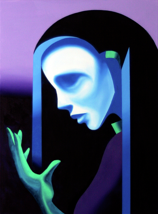 Abstract Ghost Mask Painting by Mark Webster