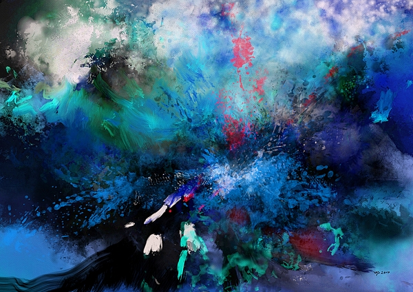 Abstract Digital Painting - Abstract Improvisation by Wolfgang Schweizer