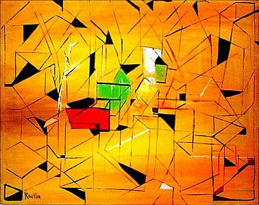 Abstract Painting - Abstract In Yellow by Jude Rouslin