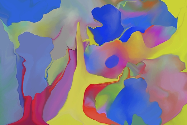 Abstract Digital Art - Abstract Landscape by Peter Shor