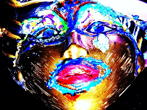 Abstract Of Faces Painting by HollyWood Creation By linda zanini