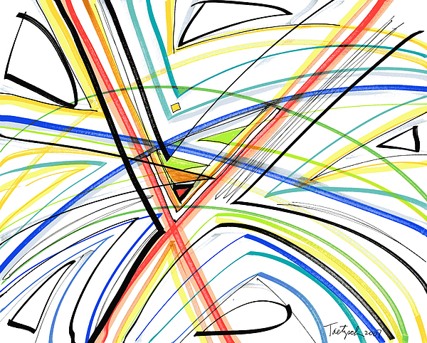 Abstract Drawing - Abstract Pen Drawing Eighteen by Lynne Taetzsch