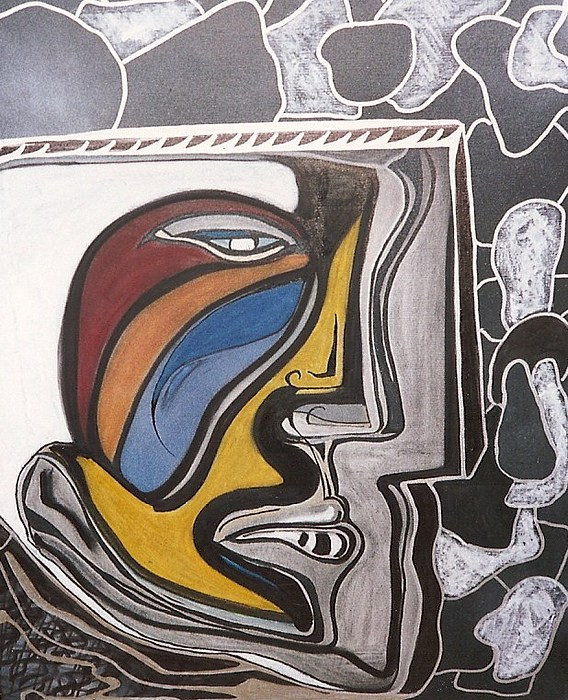 Self Portrait Painting - Abstract Self Portrait 1988 by Jimmy King