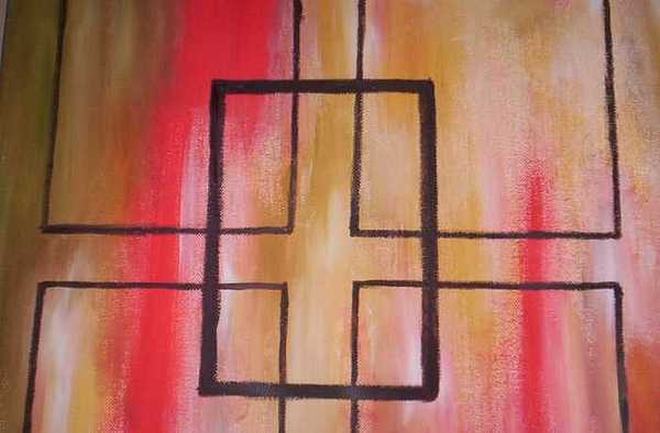 Abstract Squares Painting by Becca Haney