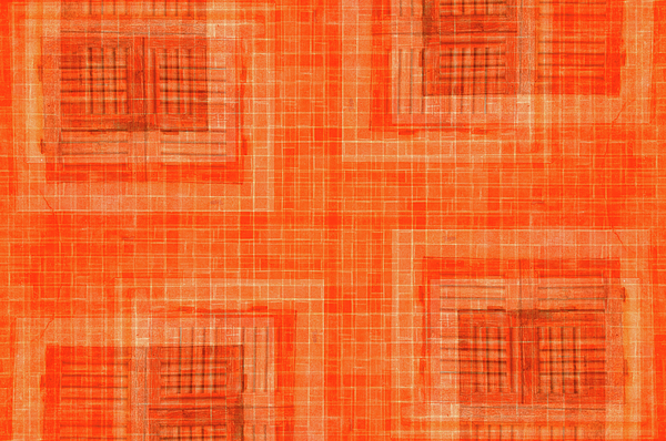 Abstract Photograph - Abstract Window On Orange Wall by Silvia Ganora
