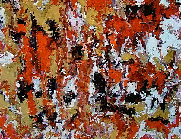 Abstract Painting - Abstract With Red by Don Phillips