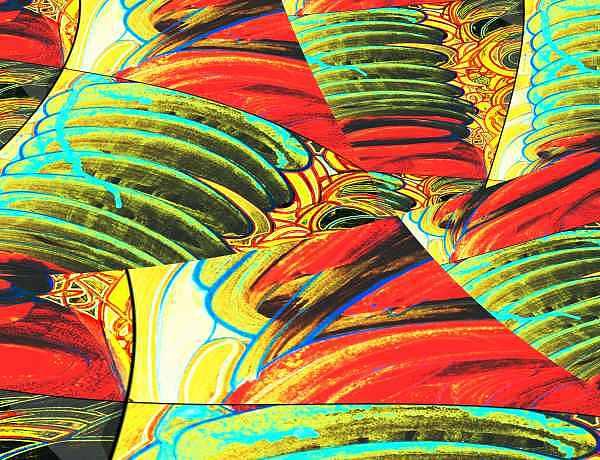 Turbulence Digital Art - Ac-03-09 by Lao Dan