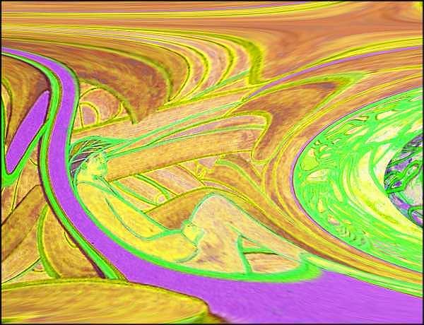 Meditation Digital Art - Ac-07-12 by Lao Dan