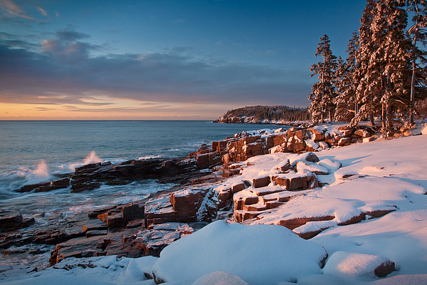 Acadia National Park Photograph - Acadian Winter by Susan Cole Kelly