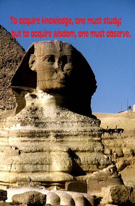 Sphinx Photograph - Acquire Knowledge by Gary Wonning