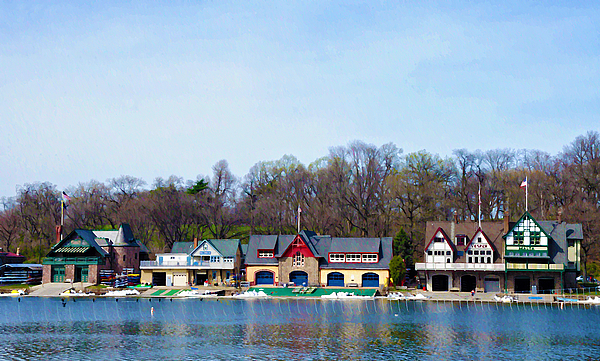 Boathouse Row Photograph - Across From Boathouse Row - Philadelphia by Bill Cannon