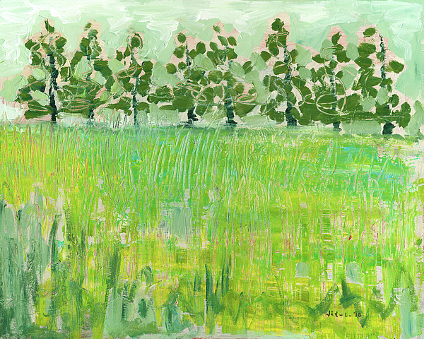 Meadow Painting - Across The Meadow by Jennifer Lommers