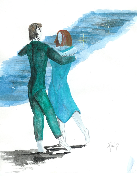 Dancing Painting - Across The Night... by Robert Meszaros