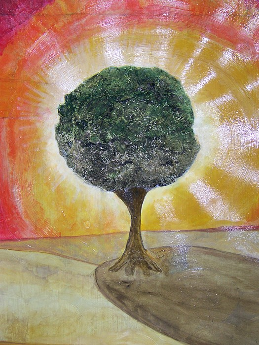 Ecology Painting - Adam And Eve Tree by Ida Hes