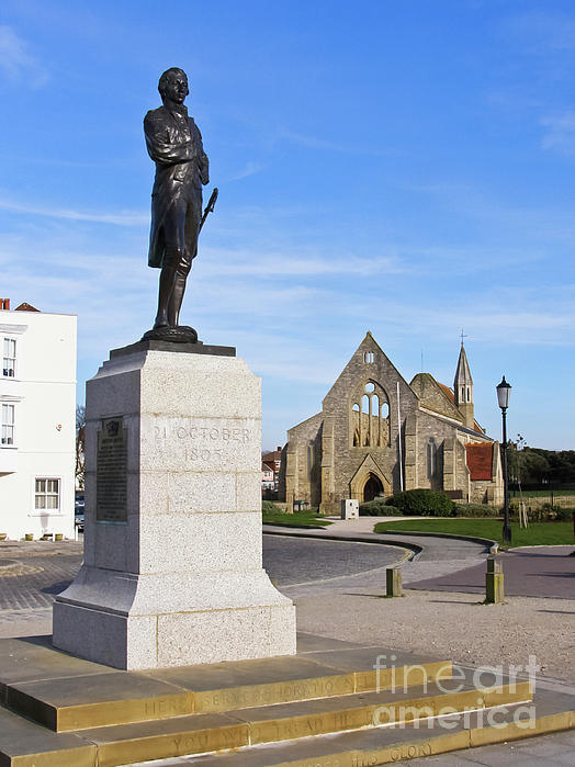 Nelson's Prayer Photograph - Admiral Lord Nelson And Royal Garrison Church by Terri Waters