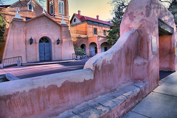 Adobe Church Photograph - Adobe Wall And Felipe De Neri Church by Steven Ainsworth