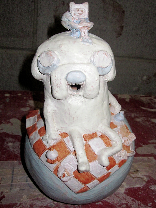 Sculpture Sculpture - Adventure Time Vessel Front View by Sara McNeil