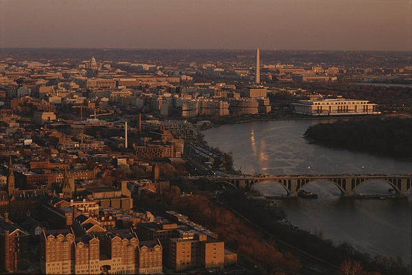 Outdoor Photograph - Aerial View Of Washington, D.c by Kenneth Garrett