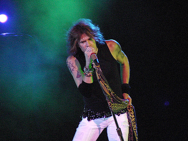 Aerosmith Photograph - Aerosmith - Steven Tyler -dsc00138 by Gary Gingrich Galleries