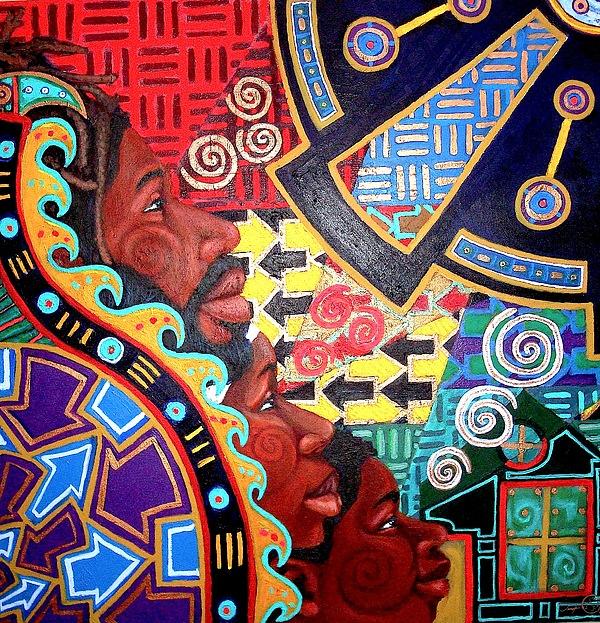 Malik Seneferu Painting - Aesthetic Ascension Series by Malik Seneferu