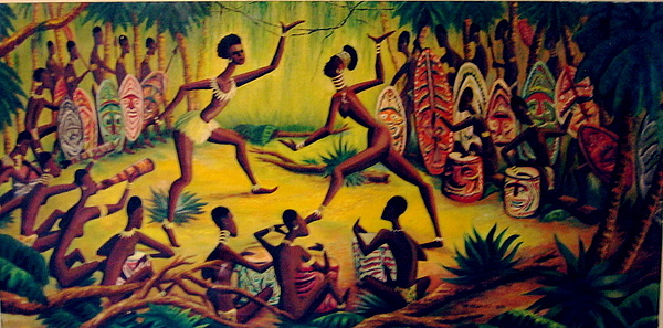 Africa Painting - African Dancers by Murray Keshner