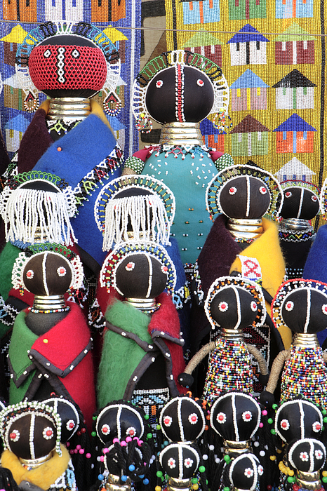 Xhosa Photograph - African Dolls by Neil Overy