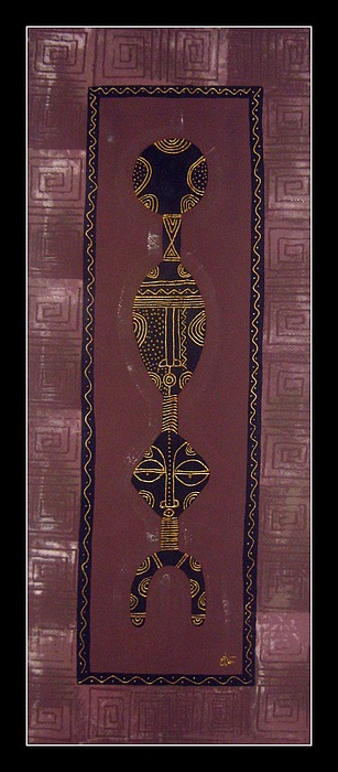 Motifs Tapestry - Textile - African Motif 13 by Peter Otim Angole