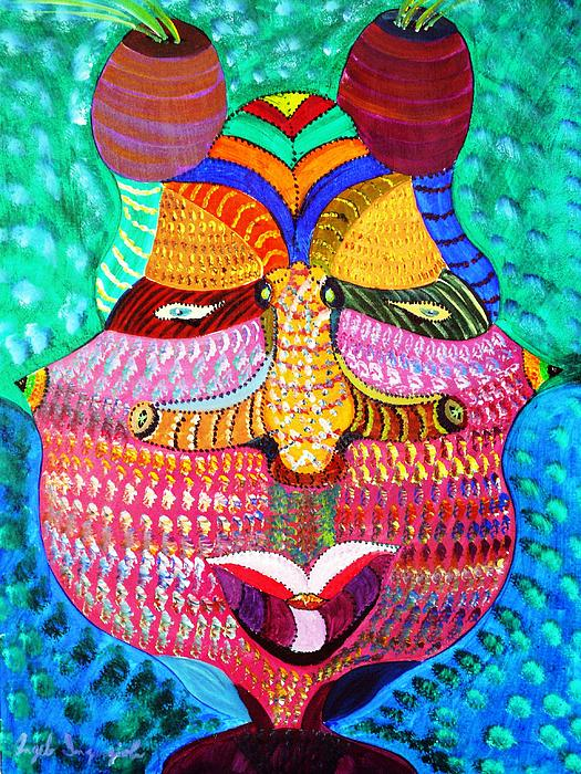 Face Painting - African Queen by Angelo Ingargiola