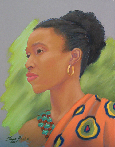 Portrait Painting - African Woman by Elena Roche