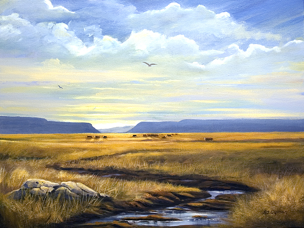 Landscape Painting - After A Hard Rain by Brooke Lyman