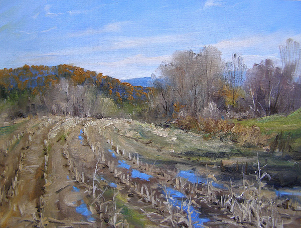 Vermont Painting - After The Autumn Harvest by Andrew Orr