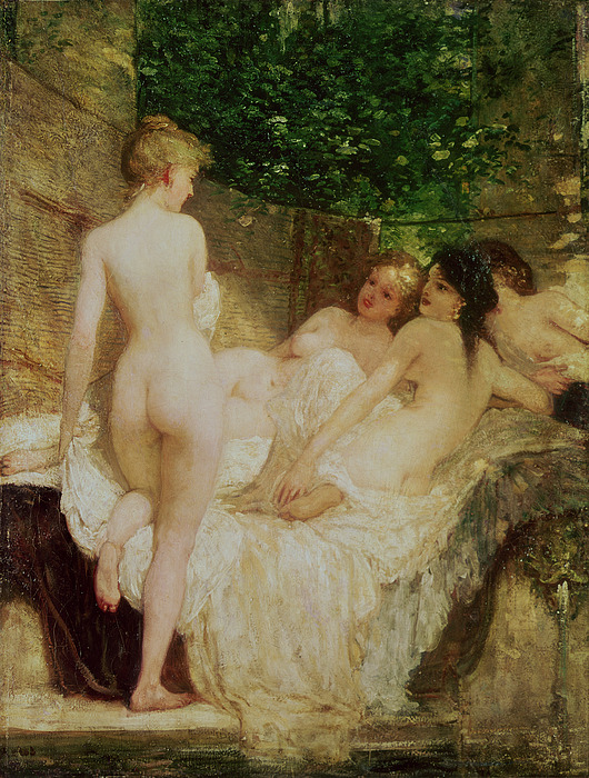 After Painting - After The Bath by Karoly Lotz