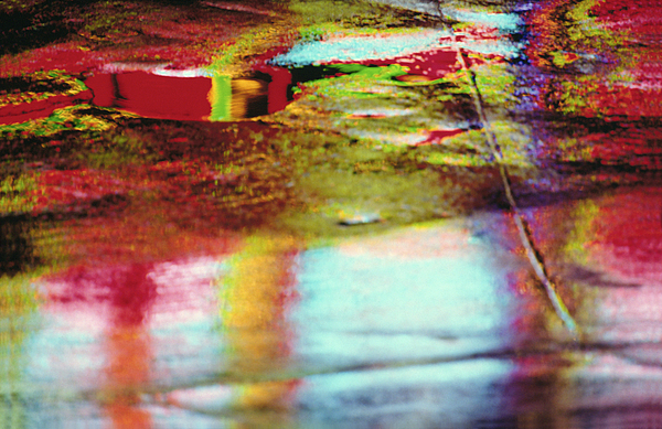 Abstract Photograph - After The Rain Abstract 2 by Tony Cordoza