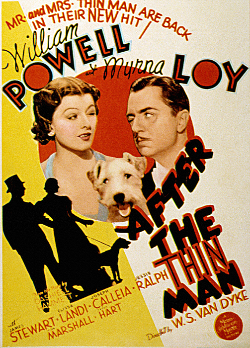 1930s Movies Photograph - After The Thin Man, Myrna Loy, Asta by Everett