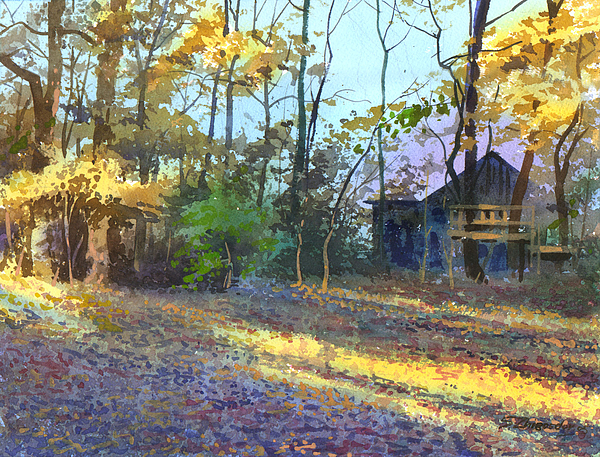 Landscape Painting - Afternoon Shadows by Sergey Zhiboedov