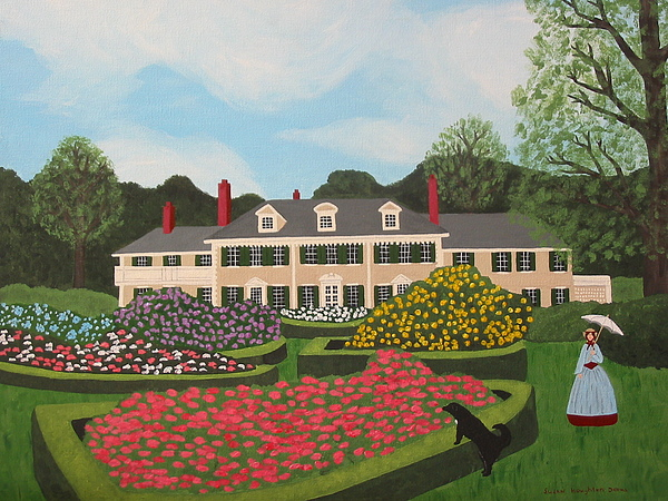 Landscape Painting - Afternoon Stroll At Hildene by Susan C Houghton